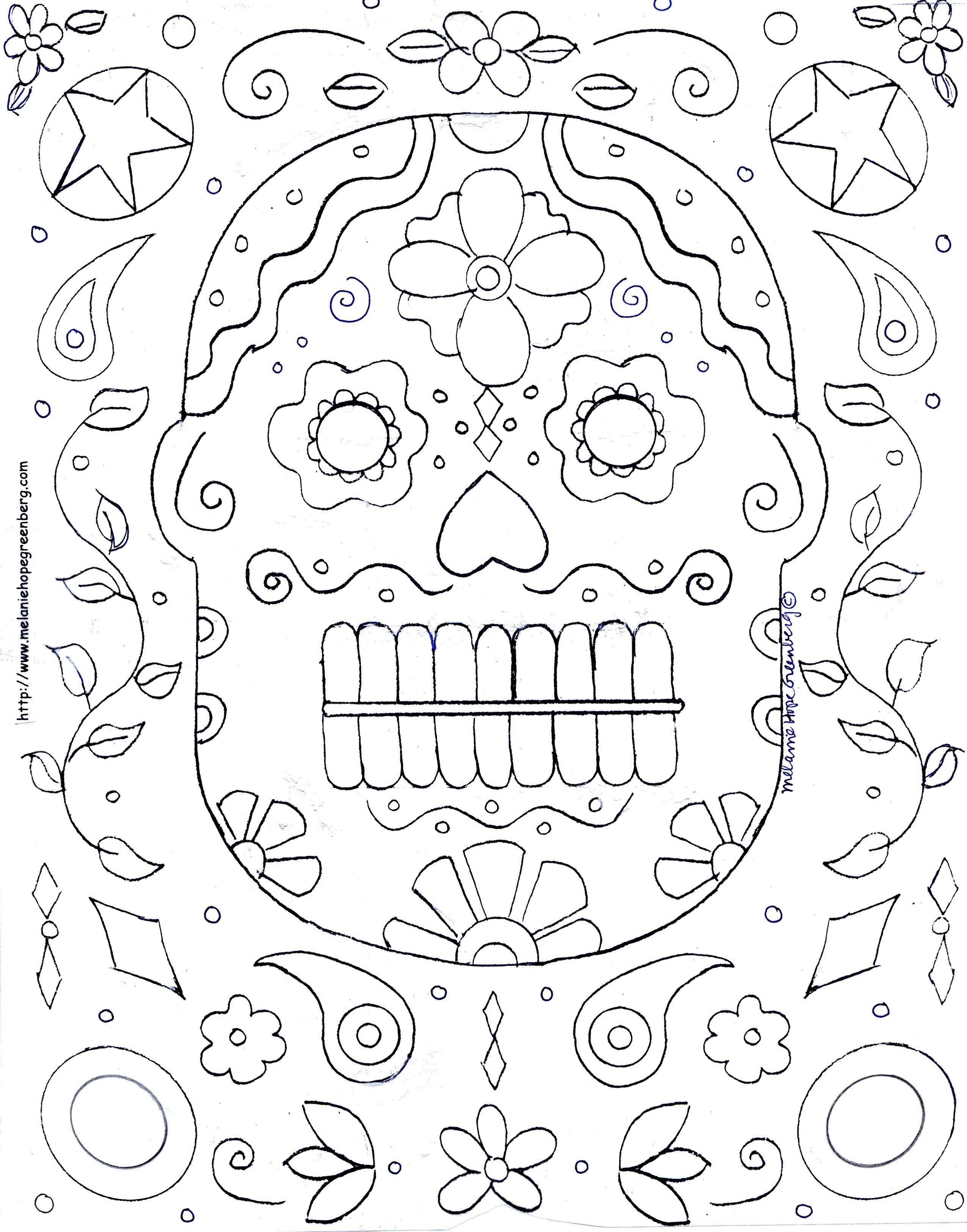 Halloween Mask Coloring Page from kid lit illustrator Melanie Hope