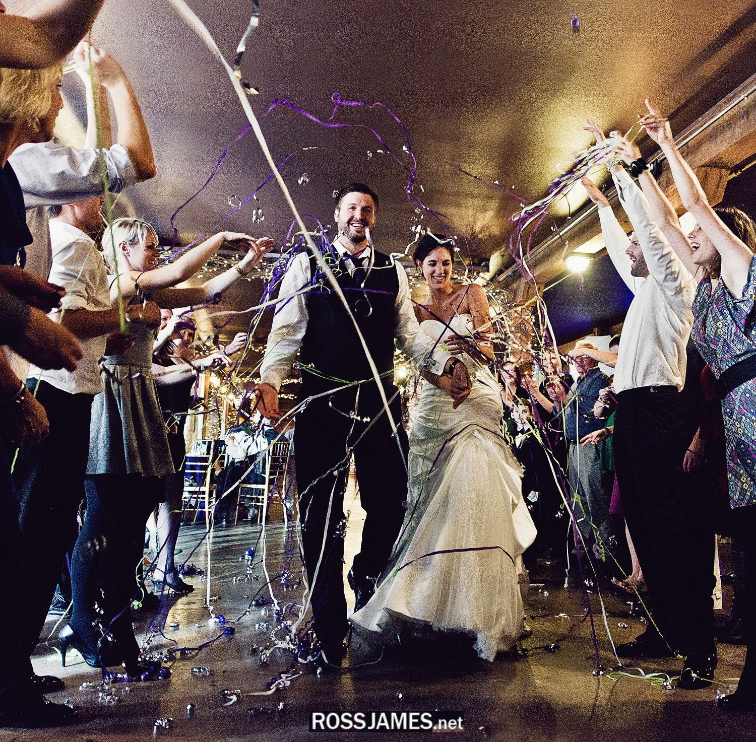 wedding streamers grand exit