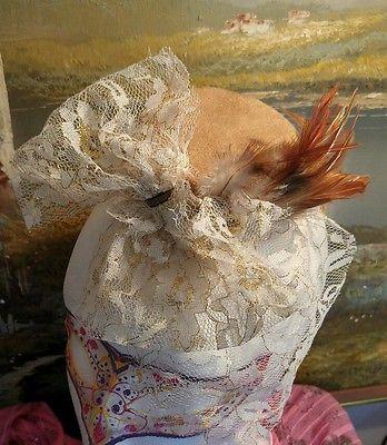 Brown Suede pill box hat fascinator headpiece wedding vintage steampunk gothic Nemesia.theall@gmail.com https://m.facebook.com/NemesiasCreations/