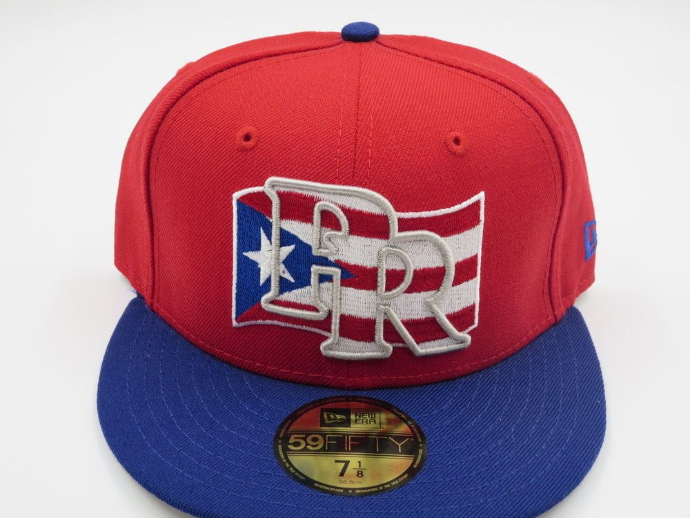 huge selection of 2a0ae fa3ad Puerto Rico Flag 59FIFTY MLB Authentic New Era Fitted Hat 7-1 8  NewEra…