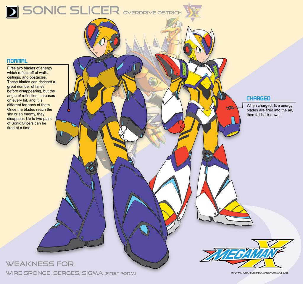 Megaman X2 Sonic Slicer Ver By Redblaze Viantart