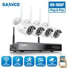 4CH Funk 1080P DVR NVR WiFi WLAN 720P IP Kamera Video Überwachungssystem Kit EU