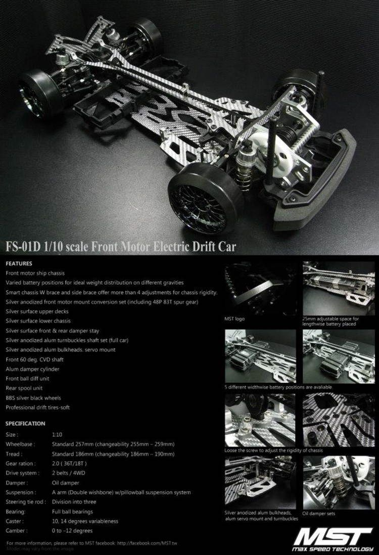 Front Motor Electric Drift Car Fs Custom Rc S Pinterest