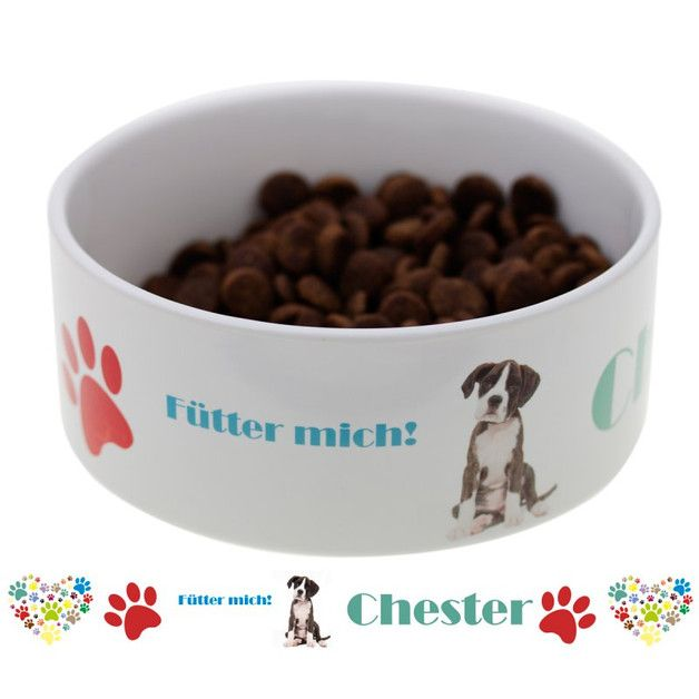Näpfe & Unterlagen - Hundenapf mit Name und Wunschfoto - ein Designerstück von Geschenke24 bei DaWanda