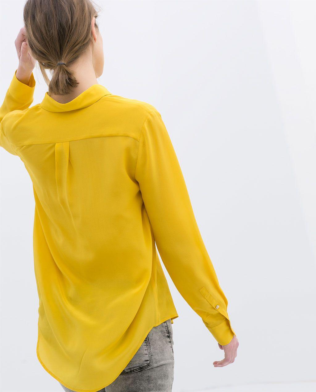 d0494d07cf12e sunny blouse from Zara. sunny blouse from Zara Yellow Shirts