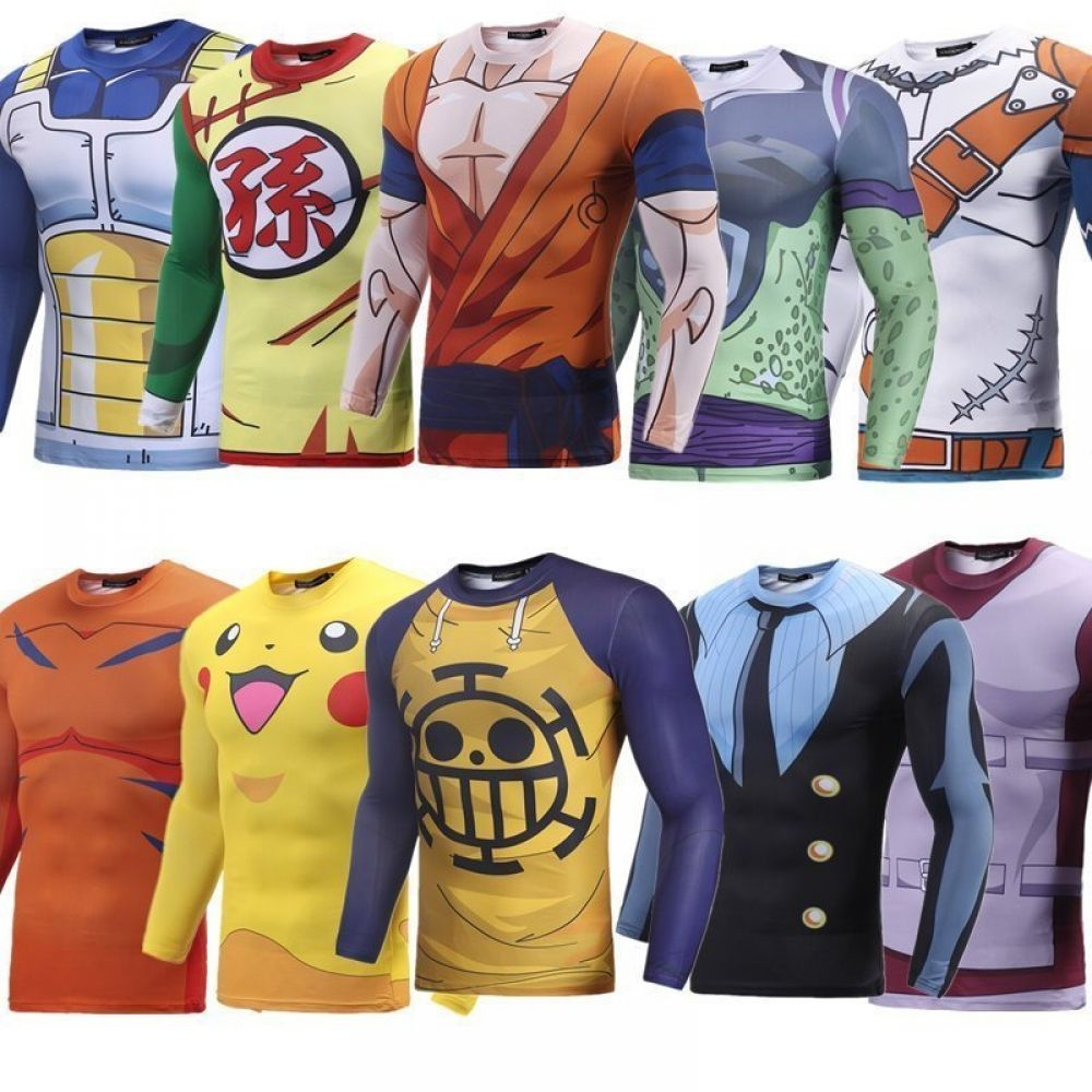 Anime characters 3d printed sweatshirts nakama store