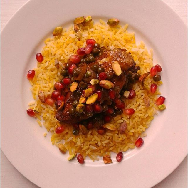 Persian inspired Chicken with pomegranate sauce | Food ...