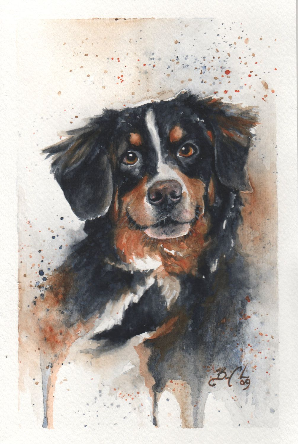 11x14 Original Custom Watercolour Pet Portrait In 2020 Dog