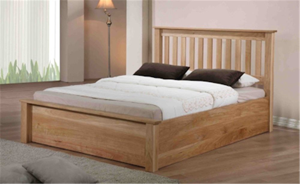 Emporia Monaco 5ft King Size Oak Ottoman Bed - Emporia Monaco 5ft King Size Oak Ottoman Bed Bedroom Pinterest