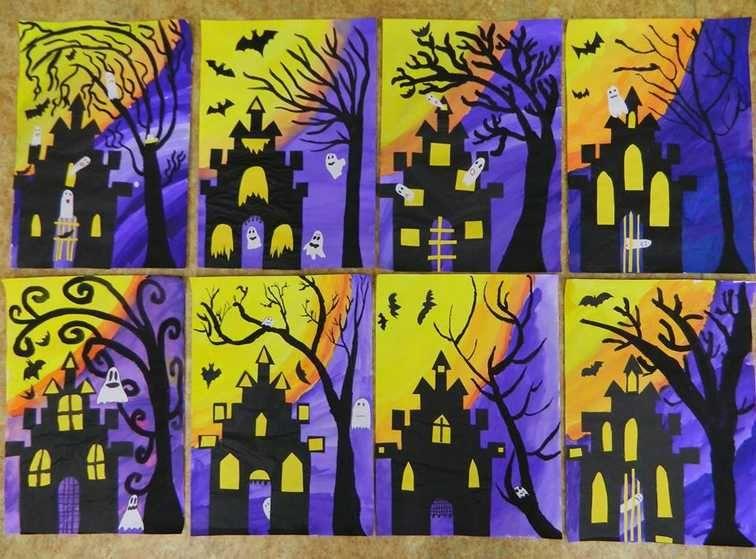 Grade 5 Fall Art Projects