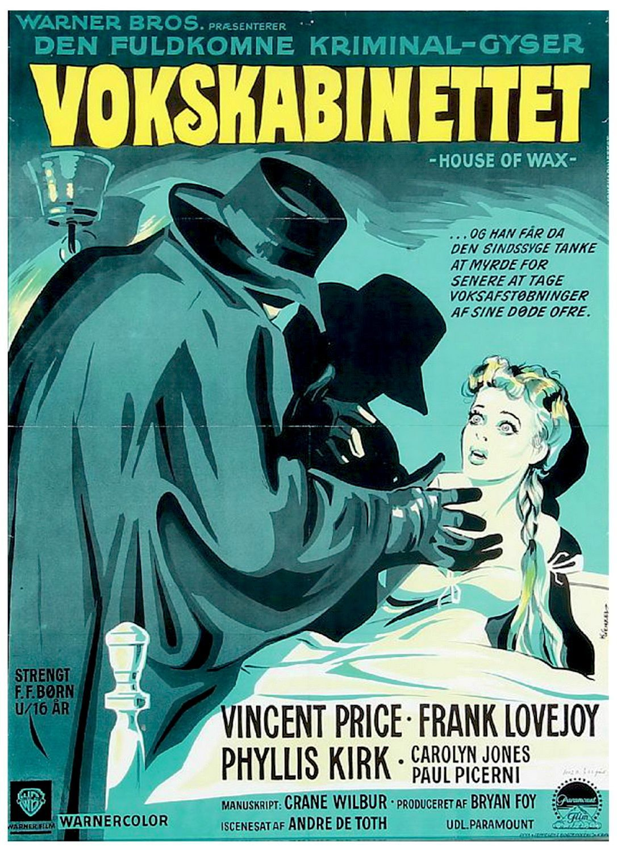 House of wax 1953 horror movie posters original movie