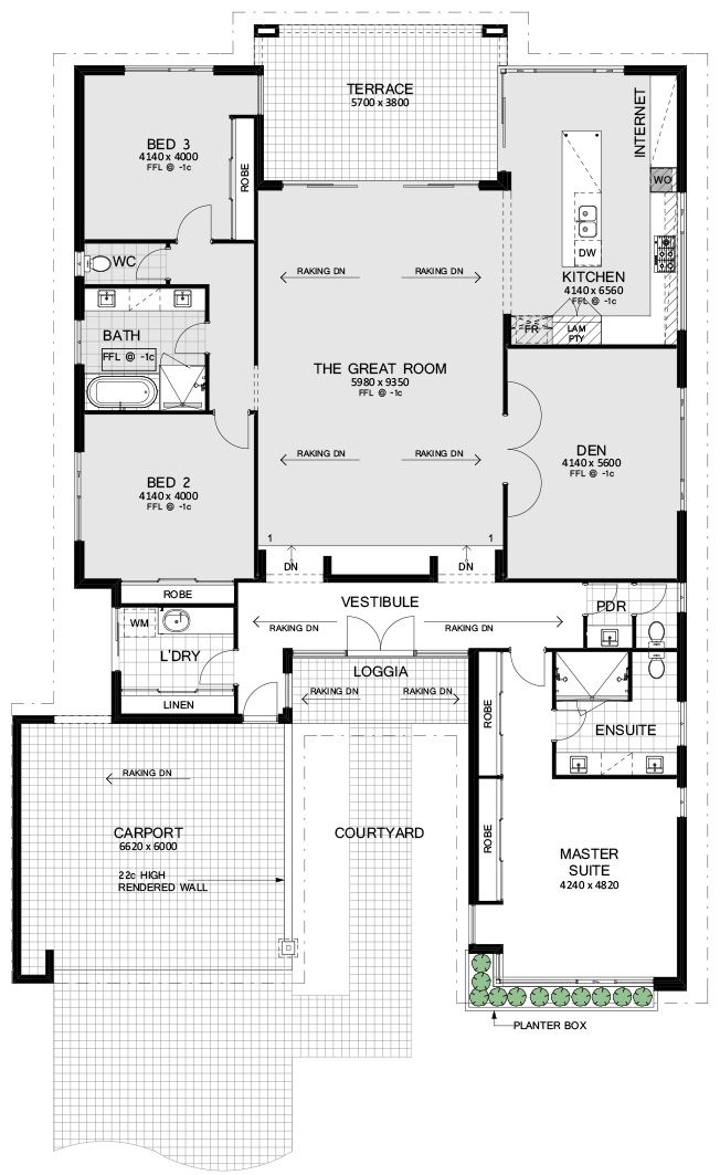 The Palm Springs Luxury Home Builders Perth Residential Attitudes House Plans Australia Luxury House Designs Home Design Floor Plans