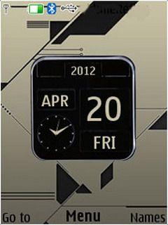 Download free 3D Design Nokia Clock S40 Theme Mobile Theme