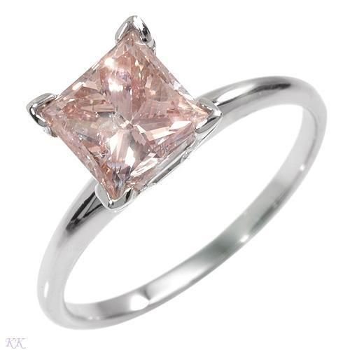 Princess Cut Pink Diamond Ring My Future I Wish