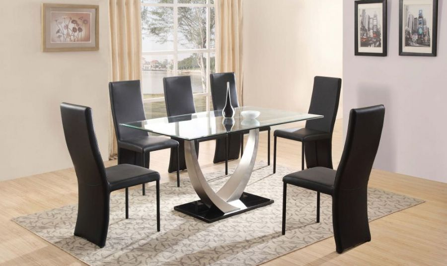 4 Optimal Choices In Glass Dining Table And Chairs: Best 2017 Dining Room Table And Chair Set Choice For 6