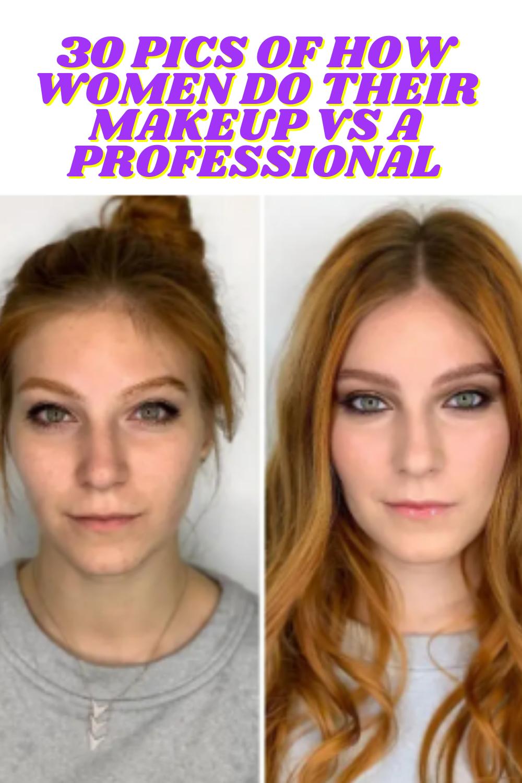 30 Pics Of How Women Do Their Makeup Vs A Professional In 2020 Diy Life Hacks Diy Life Putting On Makeup