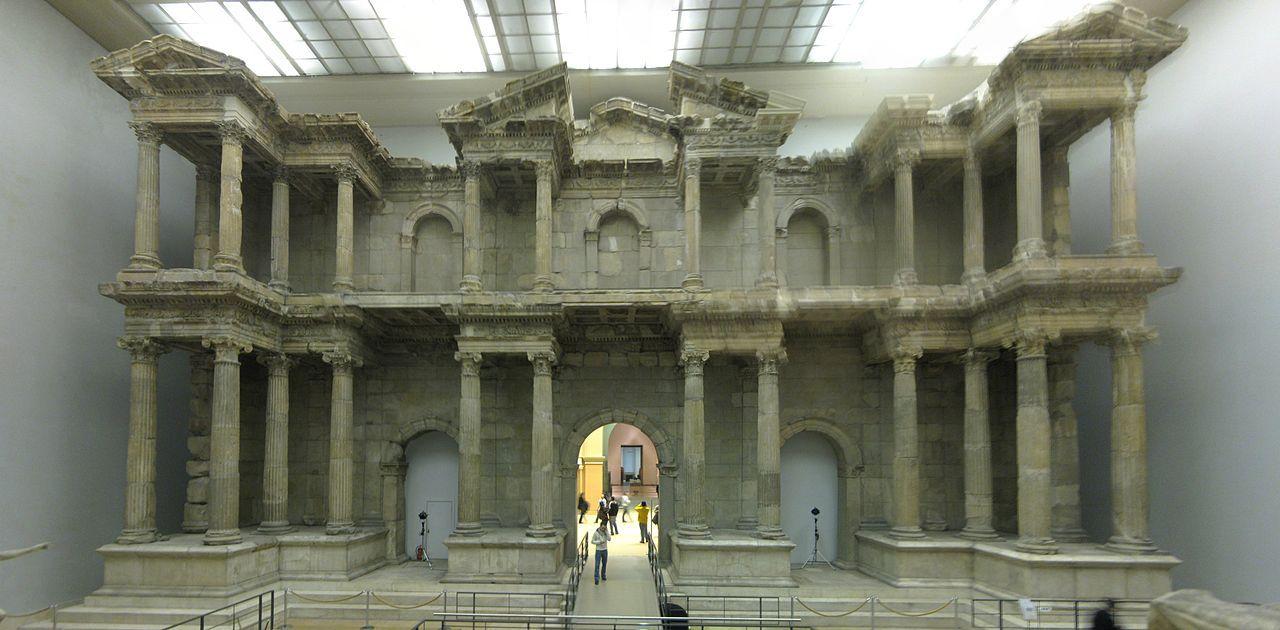 Market Gate Of Miletus Facade Architecture Ancient Greek City Pergamon Museum