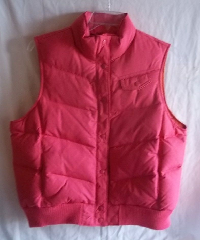 1dc1efc6b Gap Size X Large Down Filled Pink Zip Up Puffer Vest #GAP #Puffer ...