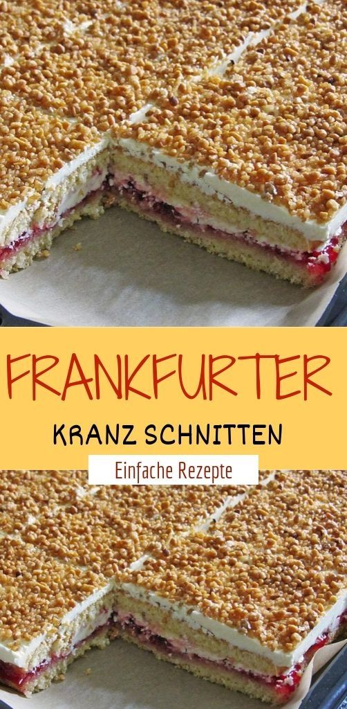 FRANKFURTER KRANZ SCHNITTEN  #towers