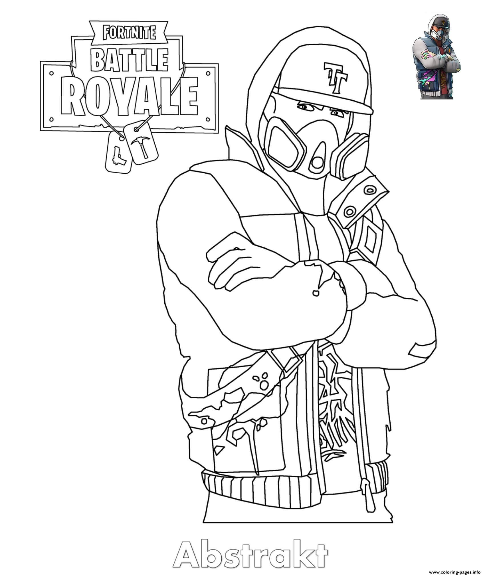 Print Abstrakt Fortnite Skin Coloring Pages Coloring Pages