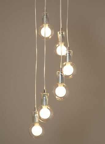 Love these pendant lights BHS   Illuminate   Felix 6 Light Cluster   Chrome and exposed  . Hall Lighting Uk. Home Design Ideas