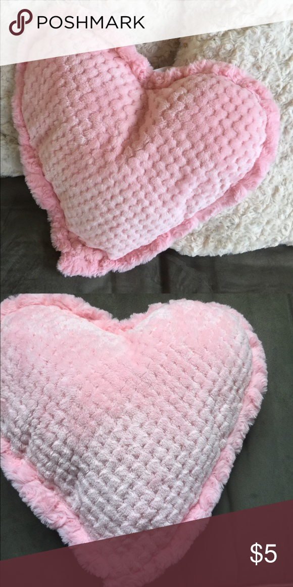 "Soft Heart Pillow Measures 15""x15"" and is super soft.New / never used.Add it to your bundle and it will ship free with your order. Other"