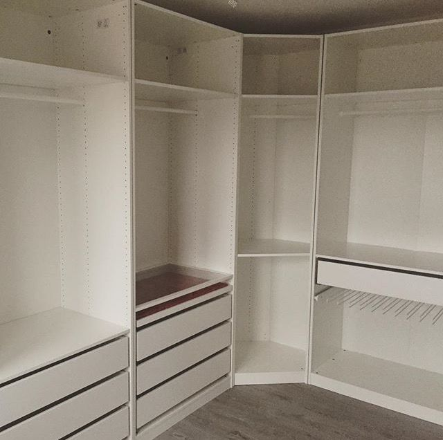 IKEA Pax Closet. Consider Corner Piece For Immediate Left Of Closet  Entrance? Consider For Back Left Corner Also?