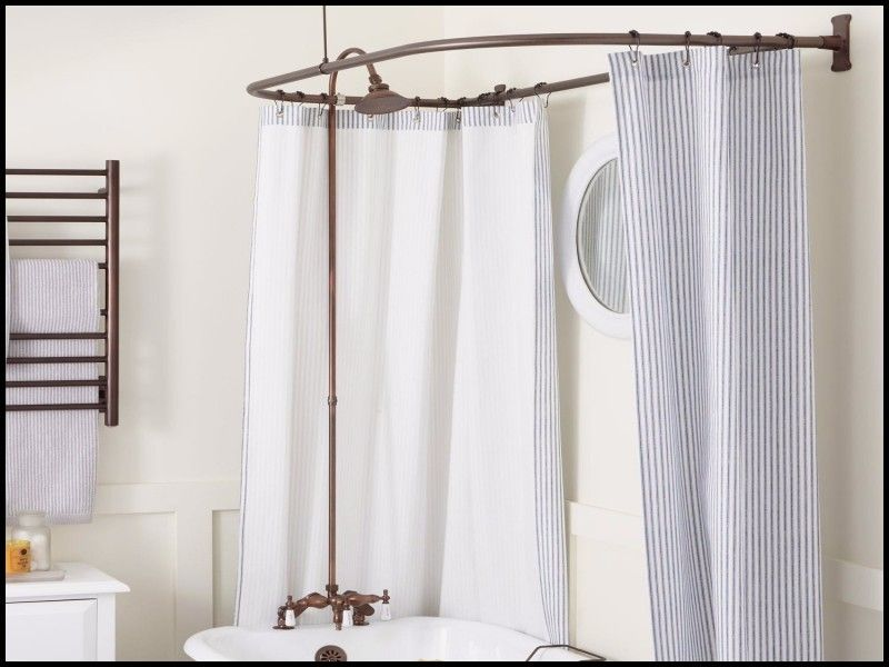 Beautiful Curved Shower Curtain Rod For Shower Stall