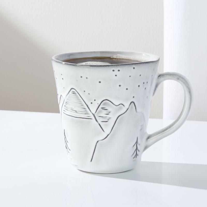 Free Shipping. Shop Mountain Mug. A wintry mountain scene