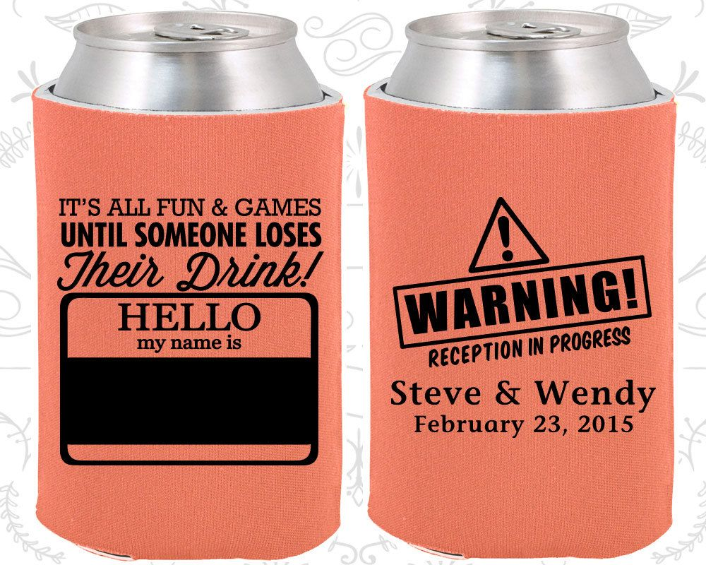 Hello My Name Is Custom Favors Tag Warning Reception In Progress
