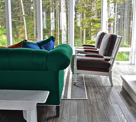 A Natural Backdrop: While most people aren't lucky enough to have a floor-to-ceiling view of a surrounding forrest, most have at least one window that offers a view. Capitalize it by positioning mirrors around the space to give the illusion of more windows.
