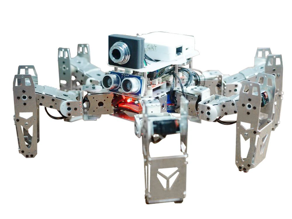 Hexapod kit with advanced modules including Wifi Camera, Bluetooth, Infrared and Ultrasonic Sensors. Now at $350 free shipping worldwide. http://robofac.com/shop/hexapod/spooky-hexapod-kit/