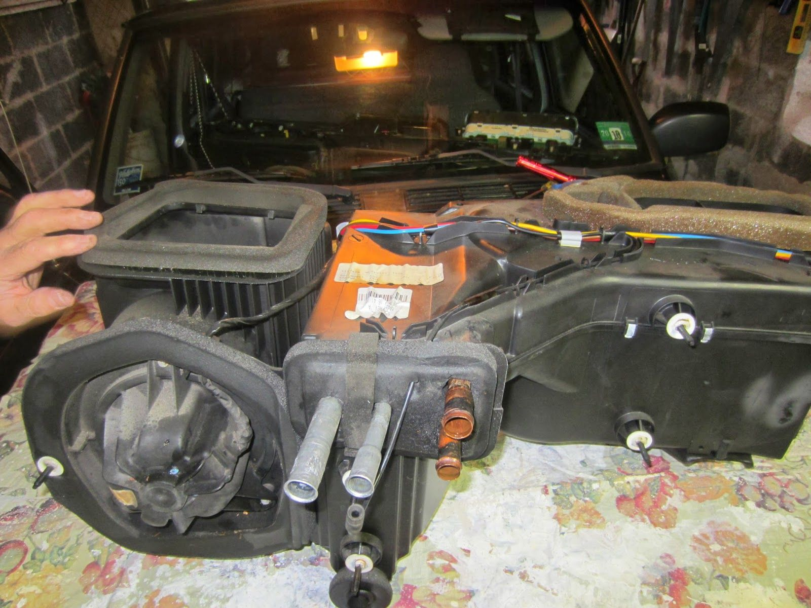 1998 Jeep Xj Heater Core Evap Core Replacement Jeep Xj Jeep