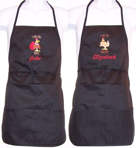 ready to ship Roosters Adult Apron