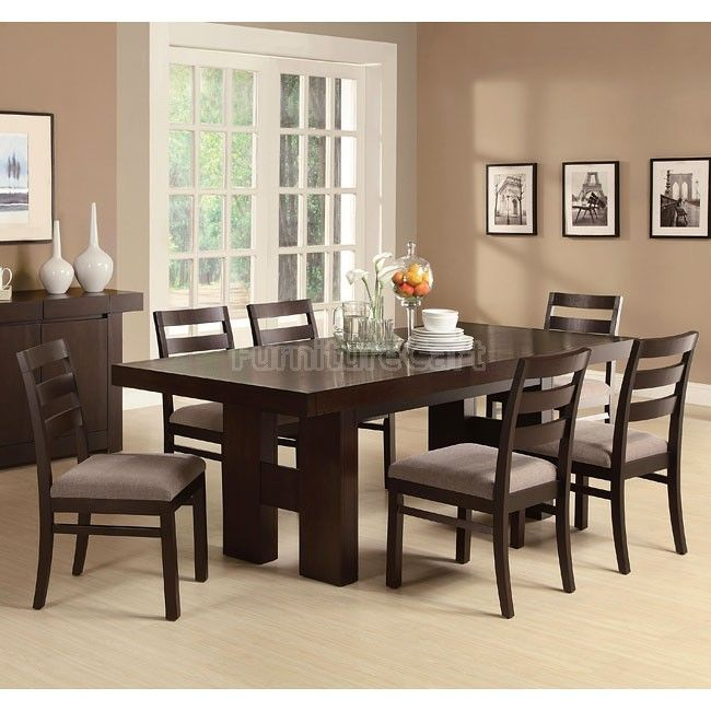 Dabny Cappuccino Dining Room Set