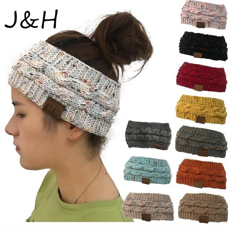 ae75b212b0d8c New Hot CC Knitted Crochet Twist Hat For Women s Winter Ear Warmer Elastic  Turban Hair Accessories Beanie Hat Drop Shipping now available on Cheap  Fashion ...