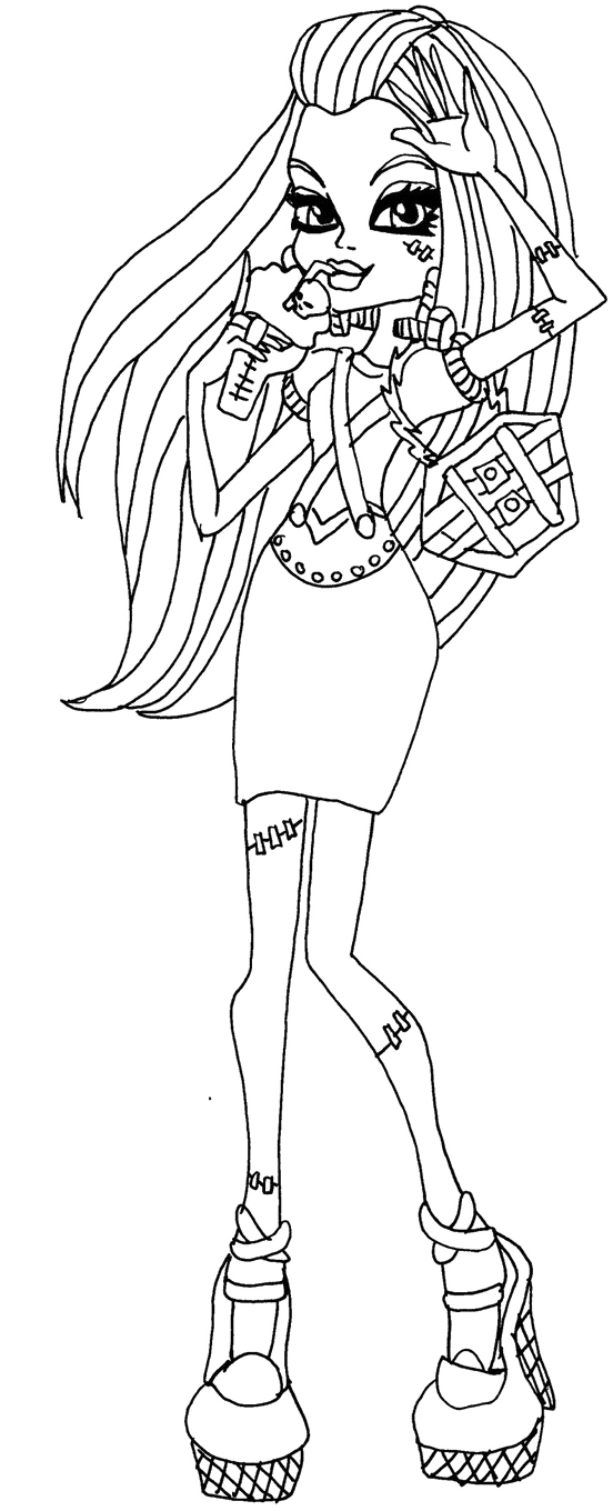 monster high frankie stein thirst coloring monster high coloring pages kidsdrawing free coloring