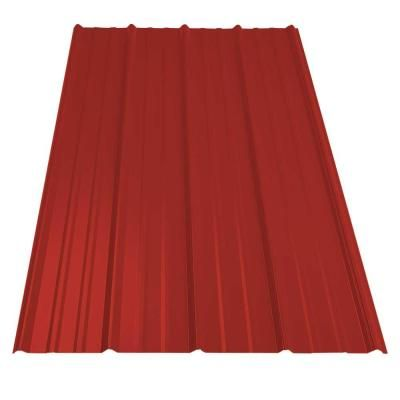 Best Metal Sales 8 Ft Classic Rib Steel Roof Panel In Red 400 x 300