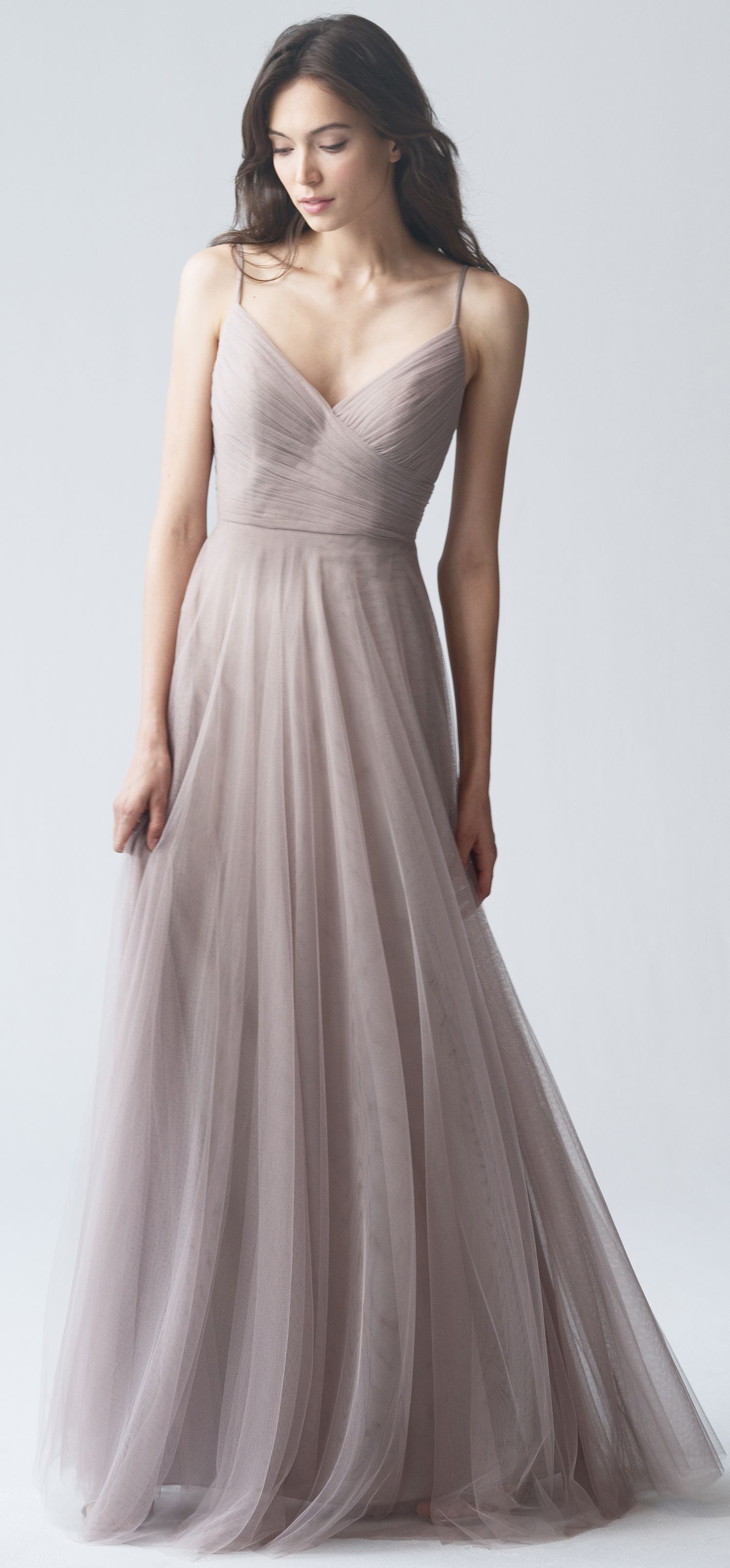 Brielle Bridesmaid Dress in Mink Grey Soft Tulle by Jenny Yoo ... 176e9eb5a97b