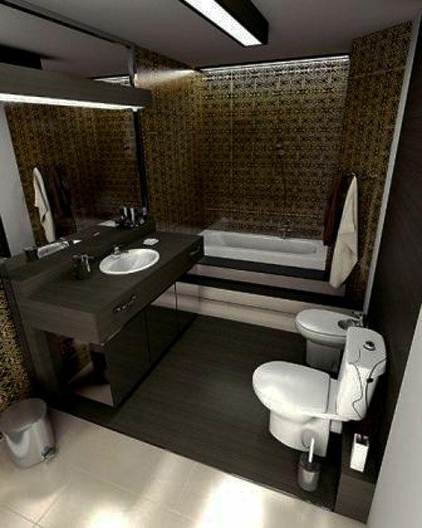 Badideen   Großes Spiegel Und Hölzerner Spiegelschrank   77 Badezimmer Ideen  Für Jeden Geschmack