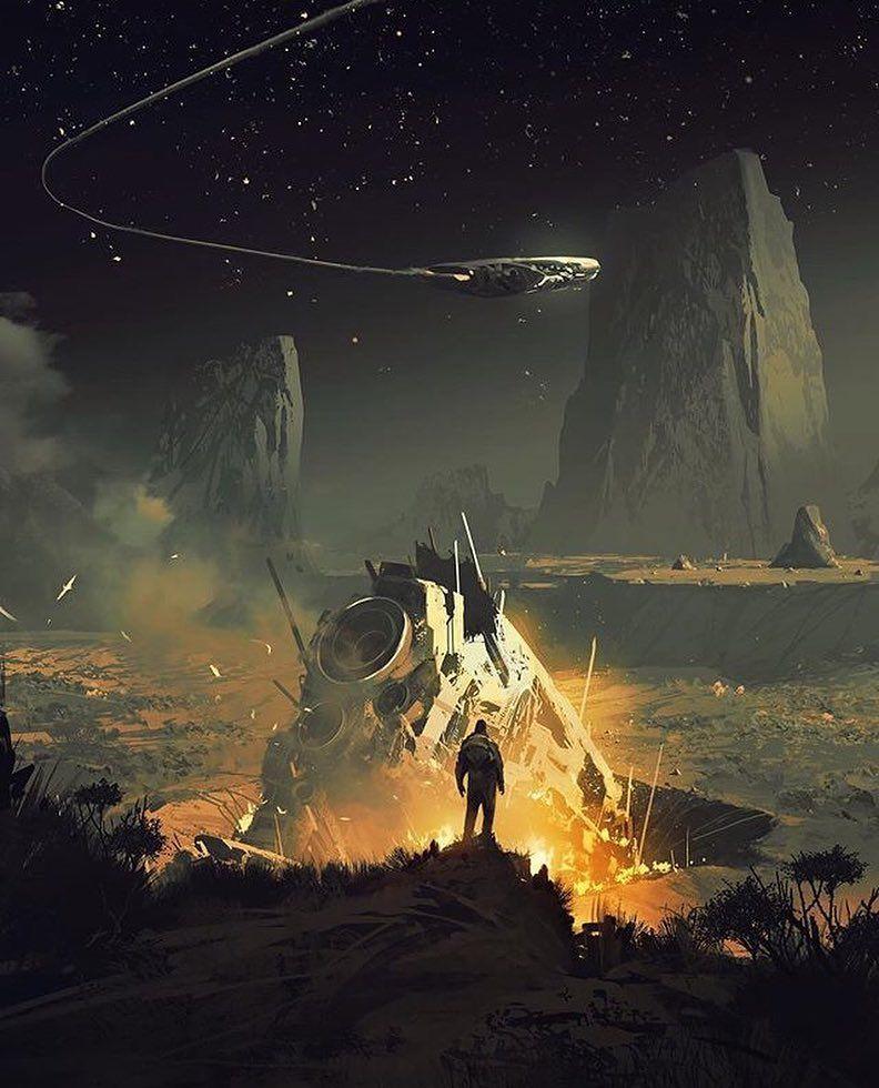 "Fantasy SciFi Concept on Instagram "". 🌌🏜🚀 I"