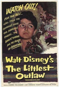 #TheLittlestOutlaw, movie poster, 1955.
