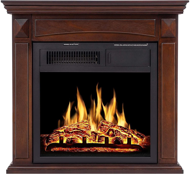 Jamfly Electric Fireplace Mantel Package Wood Surround Firebox Freestanding Corner Fireplace Cheap Electric Fireplace Fireplace Tv Stand Electric Fireplace