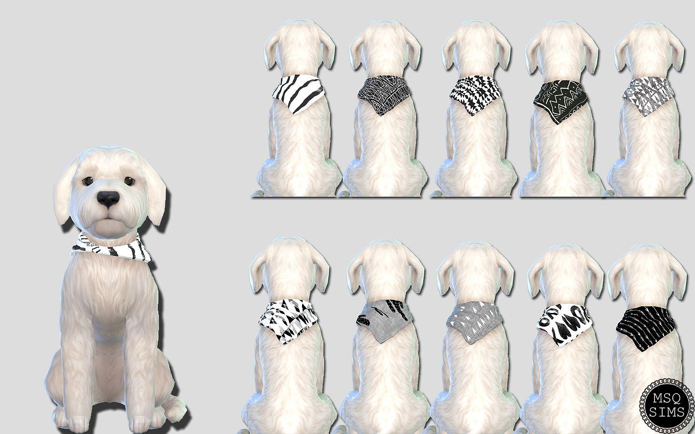 Small Dog Bandanas 01 The Sims 4 Catalog Sims Pets Sims 4 Sims 4 Pets