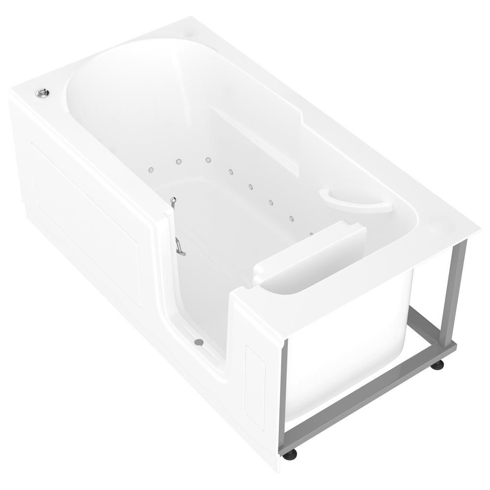 Universal Tubs Hd Series 30 In X 60 In Right Drain Step In Walk In Air Tub In White Hdsi3060rwa The Home Depot Step In Tub Tub Step In Bathtub