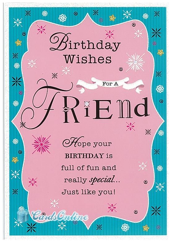 Female Birthday 399 This Luxury Greeting Card is one of many – Birthday Card for a Friend