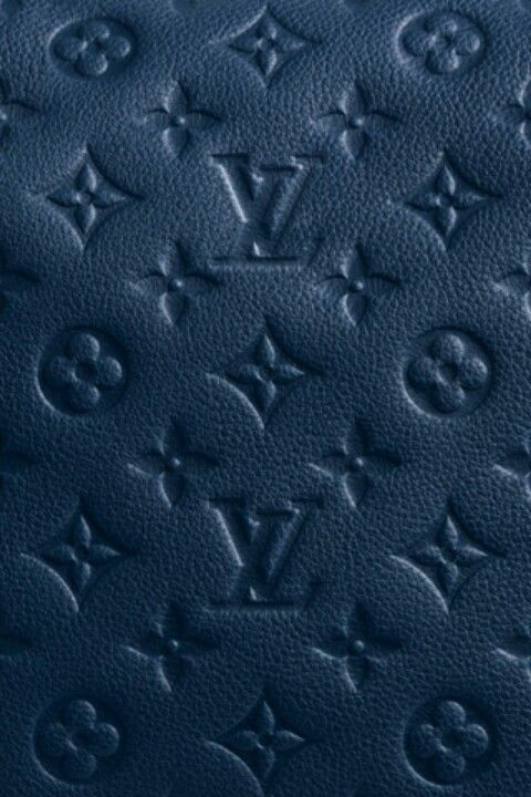 Louis Vuitton Blue leather traditional pattern Louis