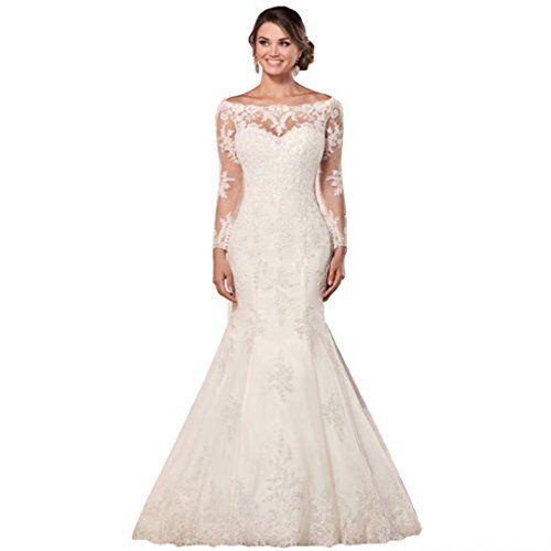 Chady Illusion Long Sleeves Mermaid Wedding Dress 2019 La