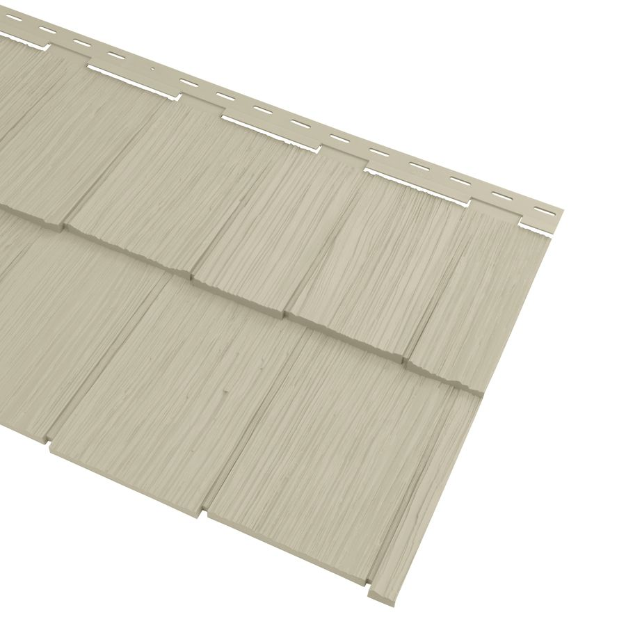 Georgia Pacific Cedar Spectrum Vinyl Siding Panel Hand Split Shake Tan 20 375 In X 57 5 In Lowes Com Georgia Pacific Vinyl Siding Vinyl Siding Panels Vinyl Siding