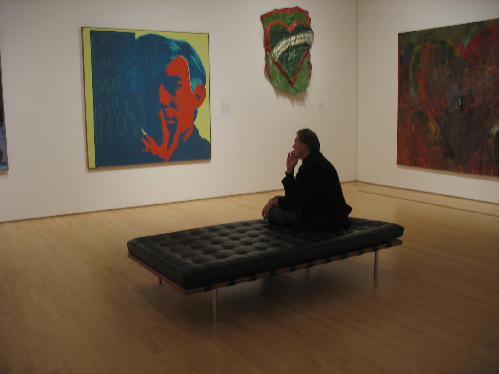 Sofa Art Gallery How To Condition Leather Seating Moma Warhol Bench Studio
